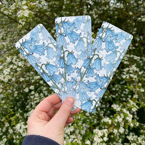 Bluebell floral bookmarks