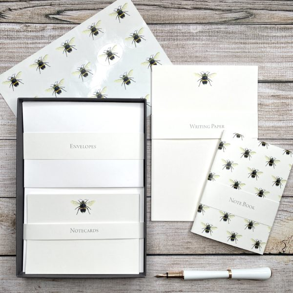Busy Bee Writing Set - inc. Writing Paper, Notecards, Notebook and Stickers