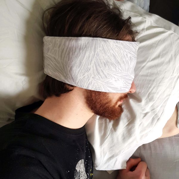Handmade, unisex, black-out sleep mask
