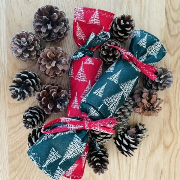 Handmade reusable Christmas crackers. Fill with your own prizes and save the waste of cardboard and pointless plastics